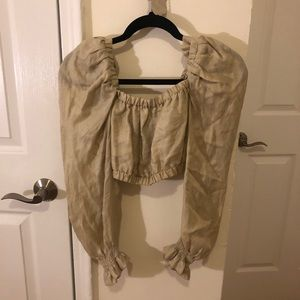 Zara Long Sleeve Crop Top